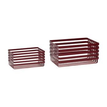 Set 2 coșuri depozitare Hübsch Wire Pantio, roșu imagine