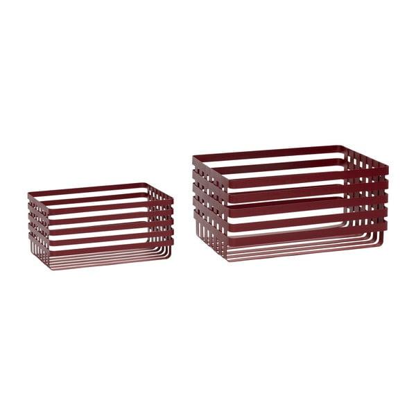 Wire Pantio 2 db piros tárolókosár - Hübsch