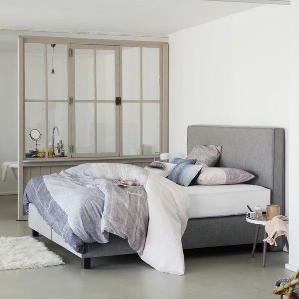 Světle šedá boxspring postel Revor Milano,180x200cm