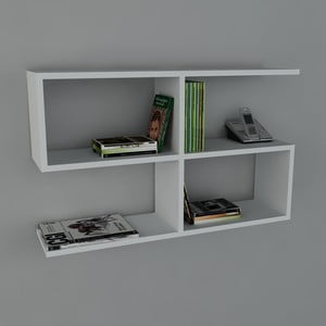 Police Belitz Book White, 22x90x55,5 cm