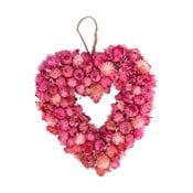 Slaměnkový věnec Heart