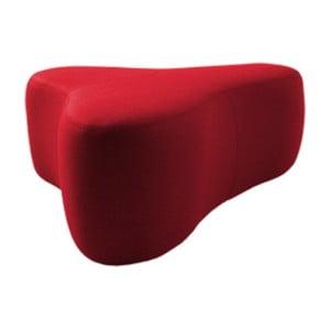 Červený puf Softline Chat Felt High Red, délka 90 cm