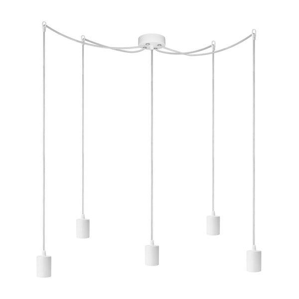 Pět závěsných kabelů Cero, bílá/bílá/bílá