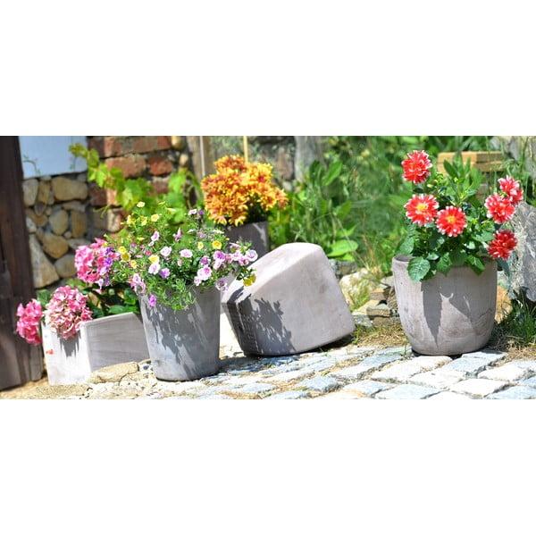 Keramický květináč Cubo 24 cm, šedý