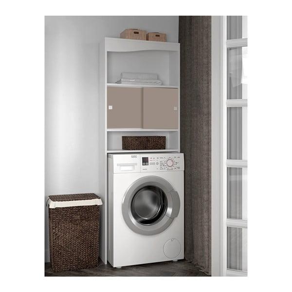 Dulap baie pentru mașina de spălat Symbiosis Wave, lățime60cm, gri - maro