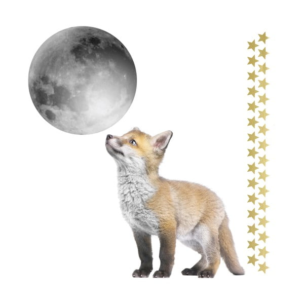 Little Fox And His Friend The Moon falmatrica szett - Dekornik
