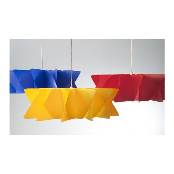 Závěsné svítidlo Diamond yellow/red