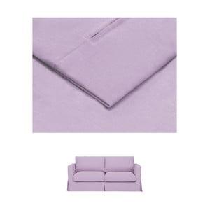 Světle fialový povlak na rozkládací trojmístnou pohovku THE CLASSIC LIVING Jean