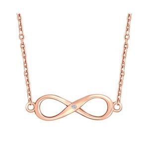 Stříbrný pozlacený náhrdelník s pravým diamantem Tess Diamonds Olivia, délka 50 cm