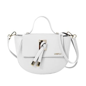 Bílá kožená kabelka Lampoo Kucca