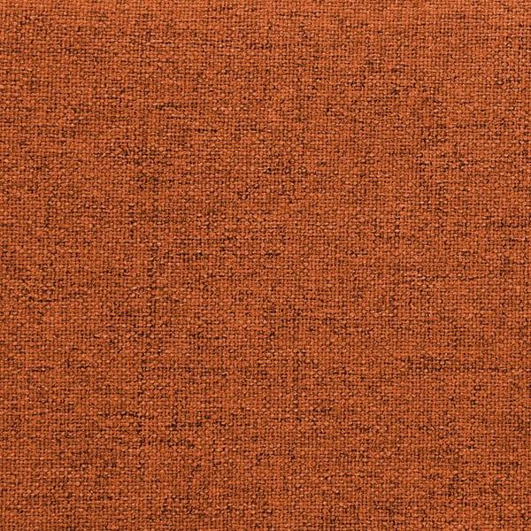 Oranžová dvoulůžková postel s černými nohami Vivonita Mae, 140 x 200 cm