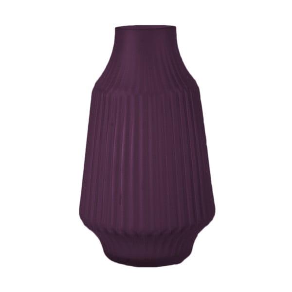 Fialová skleněná váza PT LIVING Stripes, ø16 cm