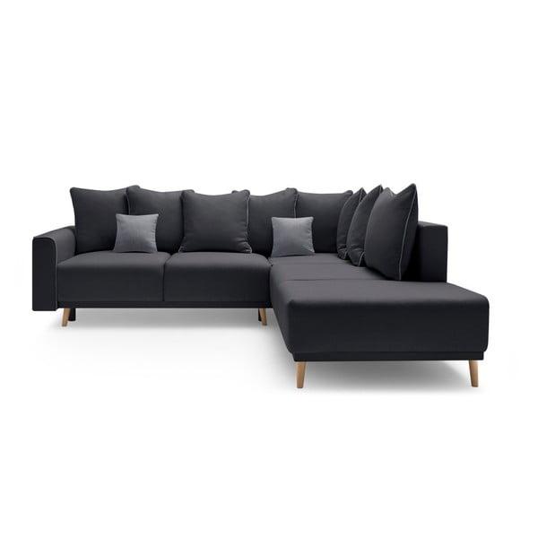 Mola L sötétszürke kinyitható kanapé, jobb oldali kivitel - Bobochic Paris