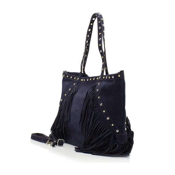 Kožená kabelka Lisa Minardi 136 Blue