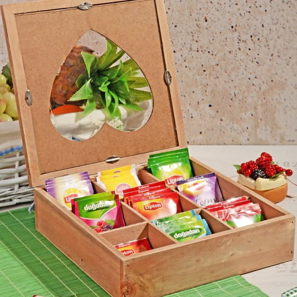 Bambusový box na čaj s 9 přihrádkami Herbal