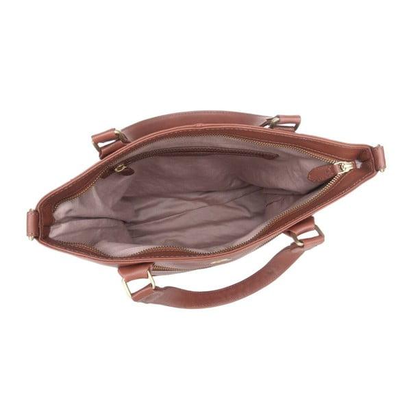 Kožená taška Phoebe Cognac