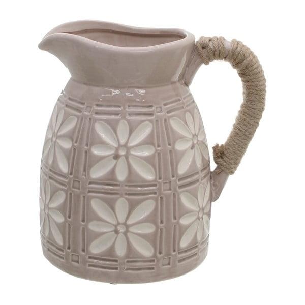 Béžový keramický džbán InArt Amaia