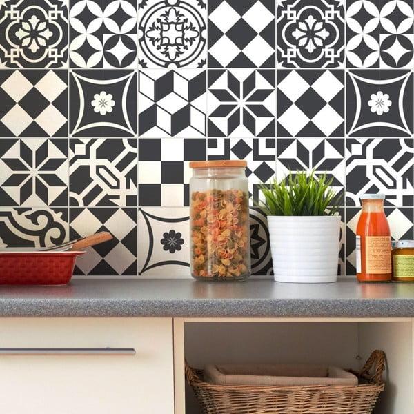 Mosaic dekor matrica szett, 24 db, 15 x 15 cm - Ambiance