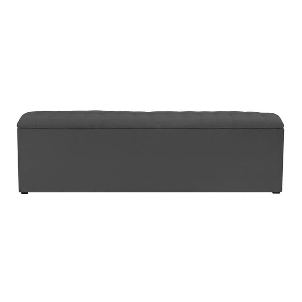 Tmavě šedý otoman s úložným prostorem Windsor & Co Sofas Nova, 160 x 47 cm