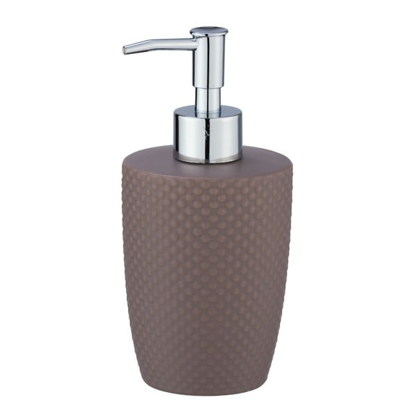 Brązowy ceramiczny dozownik do mydła Wenko Punto