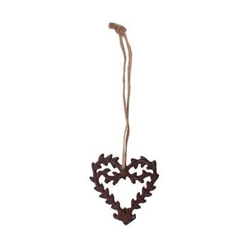 Decorațiune suspendată în formă de inimă Antic Line Ceramic de la Antic Line
