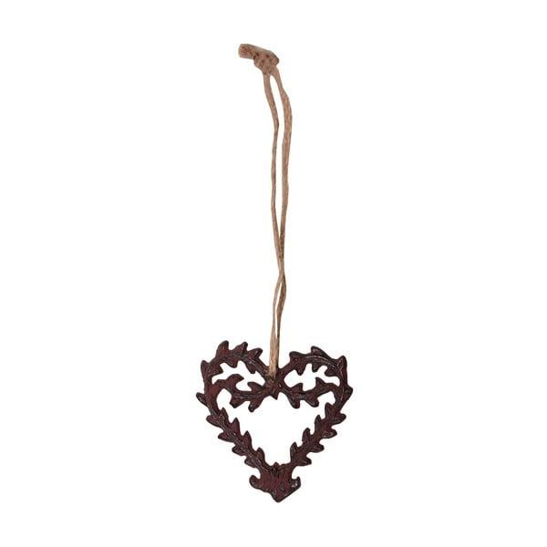 Decorațiune suspendată în formă de inimă Antic Line Ceramic