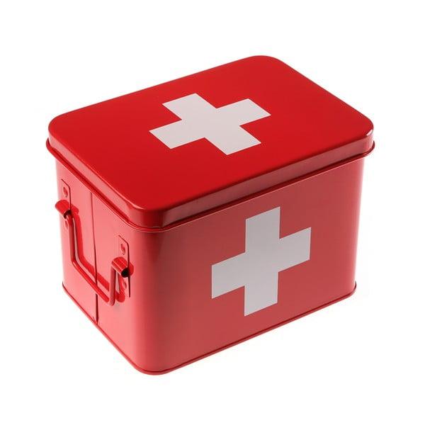 Plechová dóza na léky First Aid