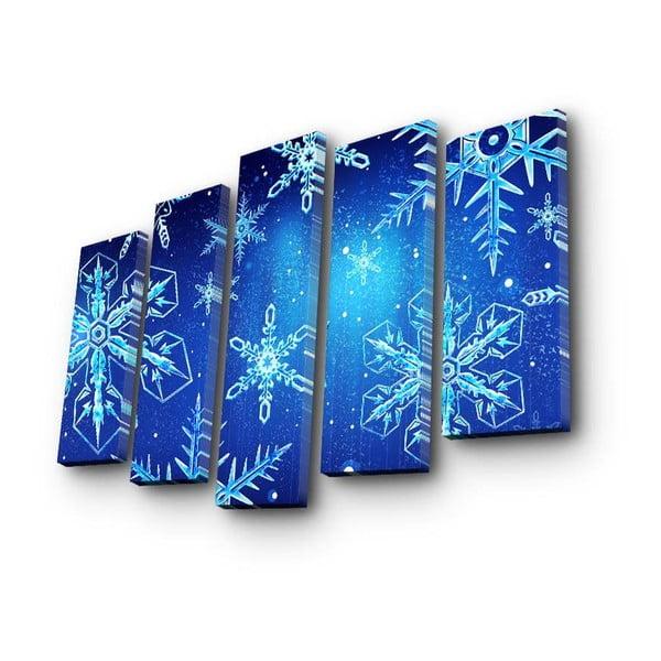 Pětidílný obraz Christmas Frozen, 105x70 cm