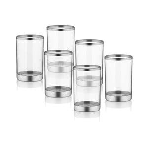 Sada 6 sklenic na likér ve stříbrném dekoru The Mia Glam