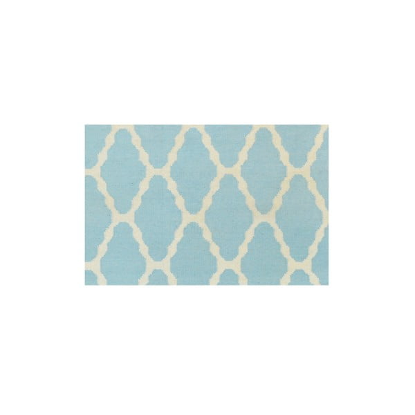 Vlněný koberec Kilim Venus Light Blue, 155x240 cm