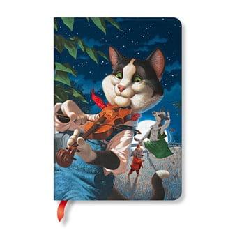 Agendă Paperblanks Cat and the Fiddle, 12 x 17 cm imagine