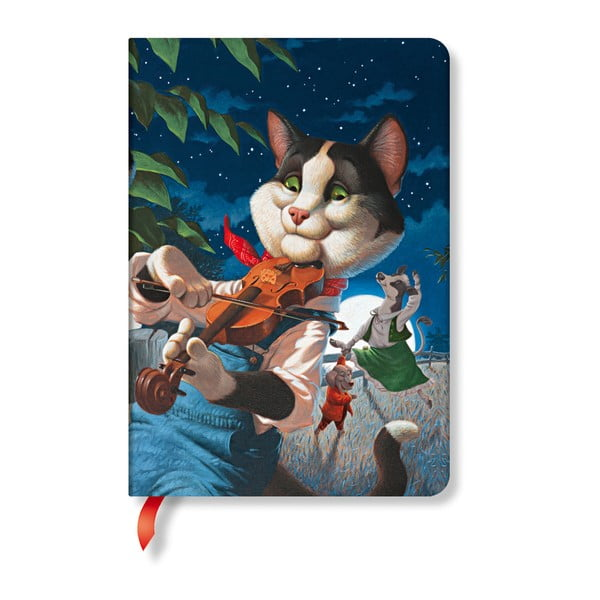 Agendă Paperblanks Cat and the Fiddle, 12 x 17 cm