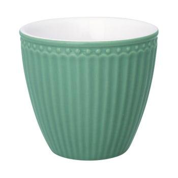 Cană din ceramică Green Gate Alice Latté, 300 ml, verde închis de la Green Gate