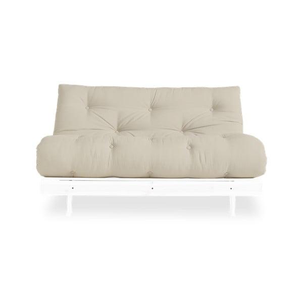 Canapea extensibilă Karup Design Roots White/Beige
