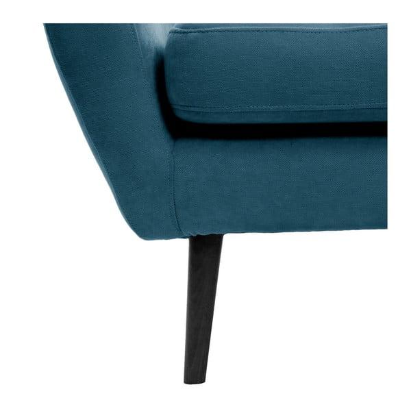 Námořnicky modré křeslo s černými nohami Vivonita Kelly