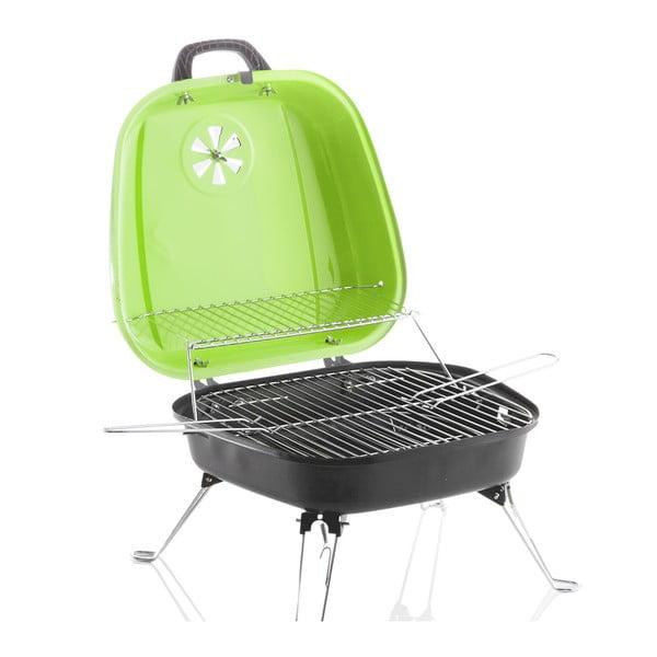 Přenosný gril Barbecue, zelený