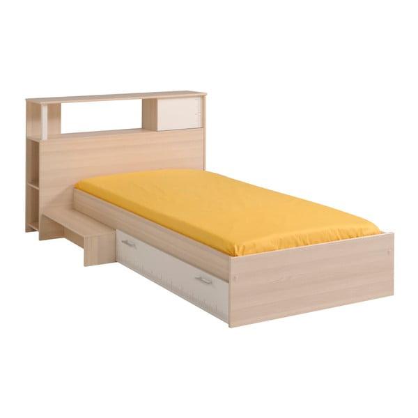 Přídavný modul v dekoru akáciového dřeva k posteli Parisot Austina, 90x190cm