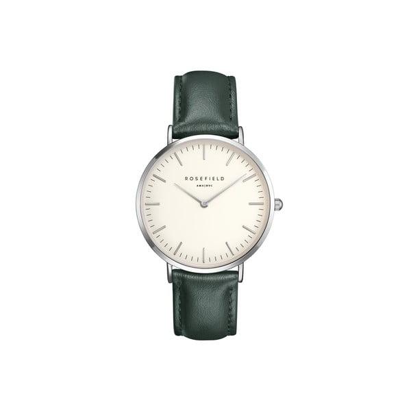 Stříbrnozelené dámské hodinky Rosefield The Bowery