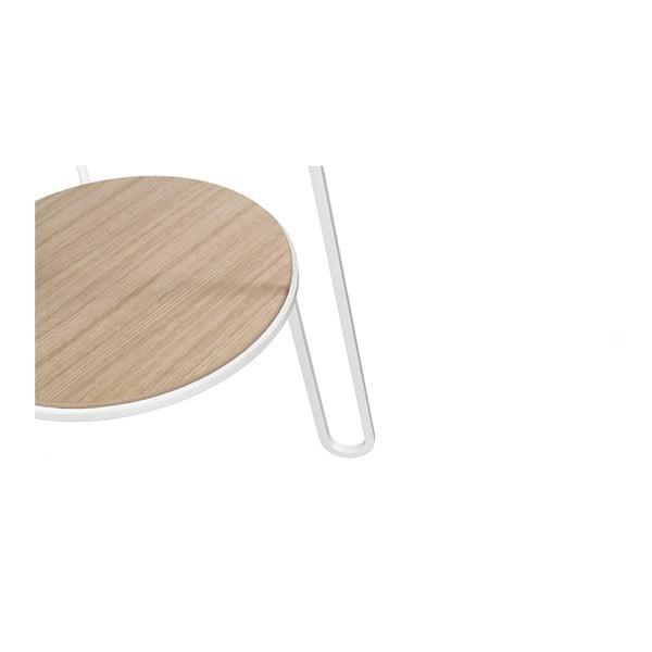 Odkládací stolek s bílou kovovou konstrukcí HARTÔ Anatole, ⌀ 40cm