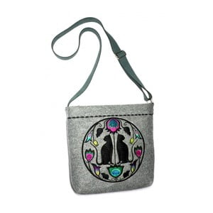 Plstěná vyšívaná kabelka Goshico Folk kočky