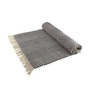 Vlněný koberec optický klam, šedá/bílá
