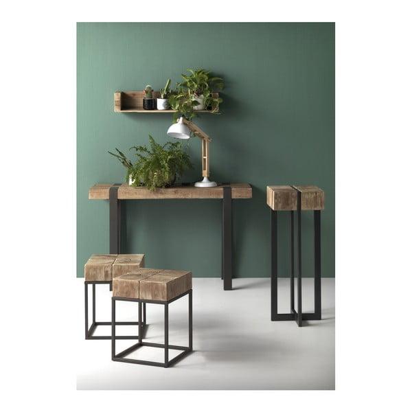 Dřevěný konzolový stolek s kovovými nohami Geese Pina, 120 x 40 cm