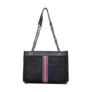 Černá kožená kabelka Mangotti Larissa