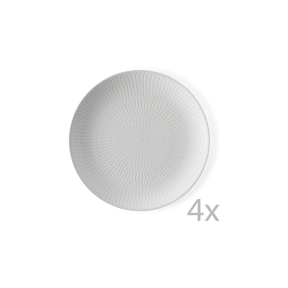 Sada 4 talířů Brandani Granaglie Blanc, ⌀ 27 cm