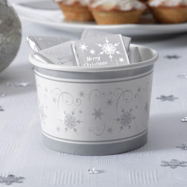 Sada 8 papírových mističek Neviti Shimmering Snowflake