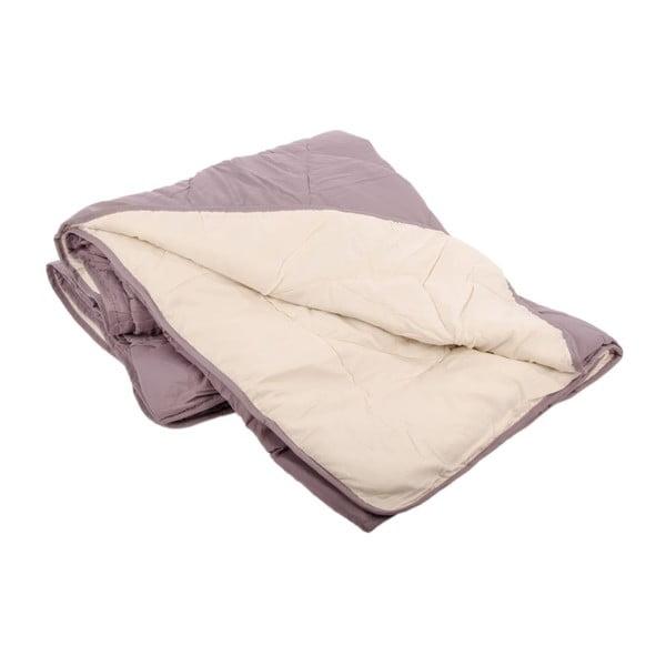 Přehoz na postel Duveta Violet Creme, 180x220 cm