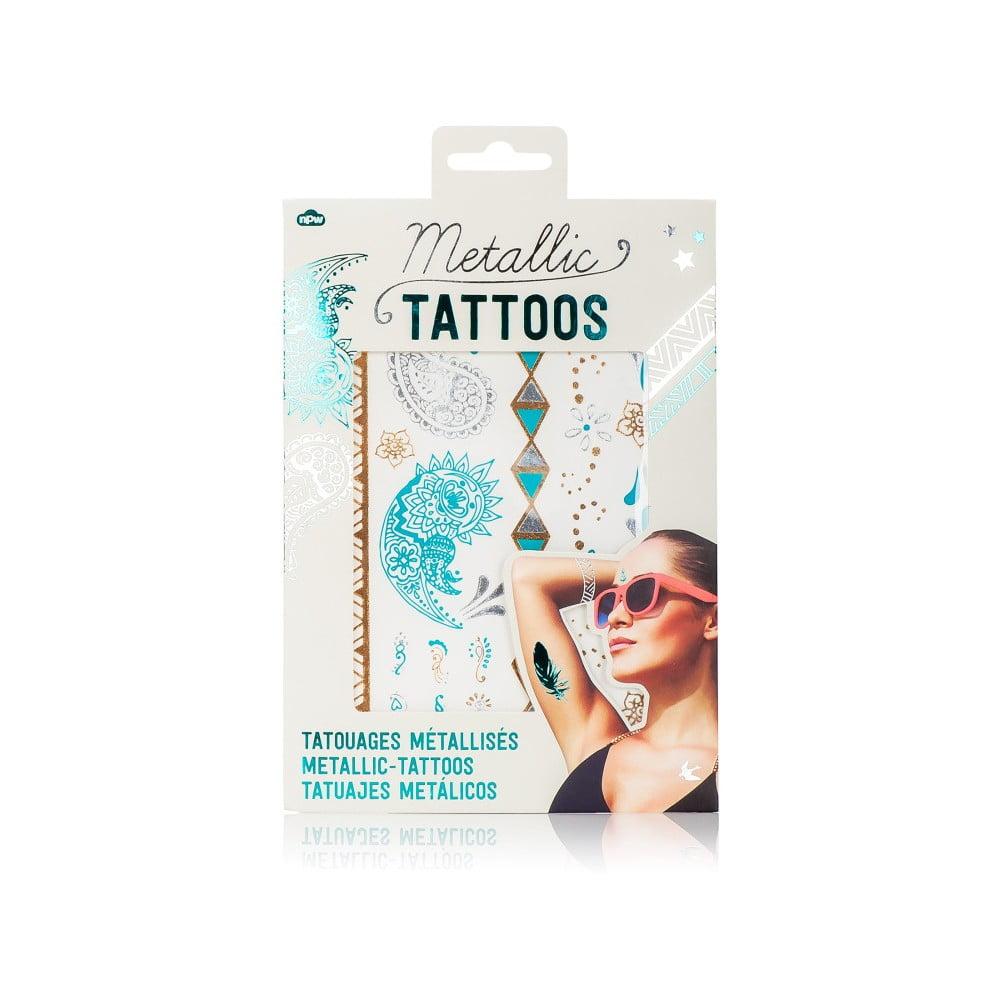 Nalepovací tetování NPW Turqoise and Silver