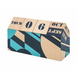 Stolní otáčecí kalendář z bukového dřeva Portico Designs Geometrico