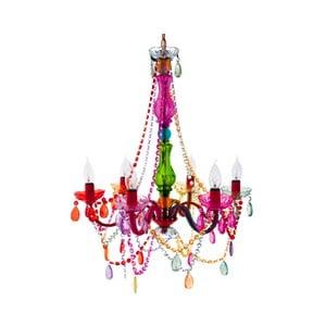 Pestrobarevný šestiramenný lustr Present Time ETH Gypsy