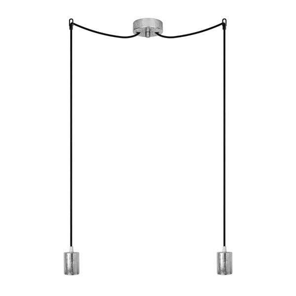 Dvojité závěsné kabely Cero, stříbrná/černá/stříbrná